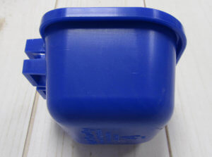 side view blue cup
